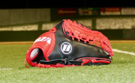 Infield Glove – Black & Red