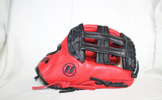 Infield Glove – Red & Black